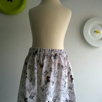 Black and White Doggy skirt age 4 SALE