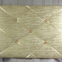 Shakespeare Script Padded Fabric Notice Board