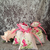Foxglove and dragon flies set of 3 lavender bags