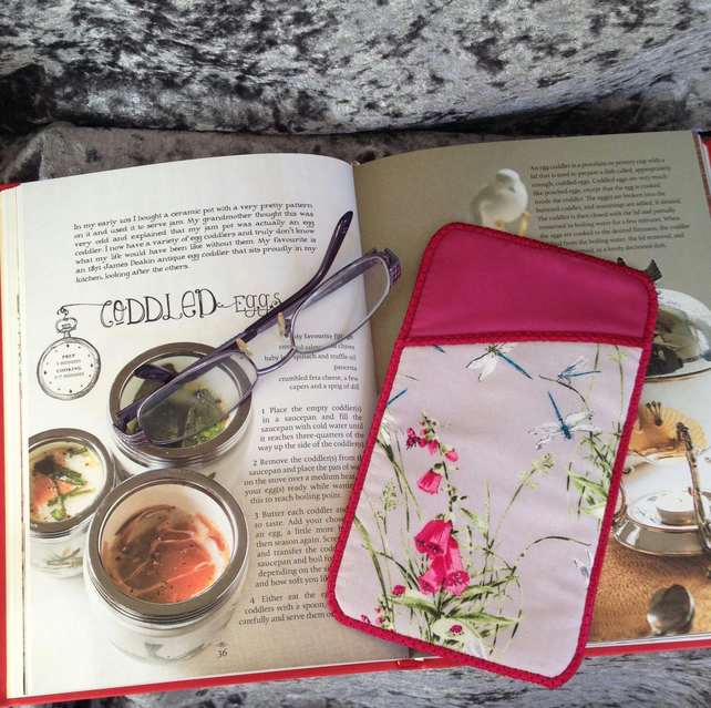 Foxglove and Dragon fly glasses case