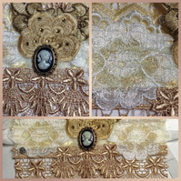 Beige and Cream Lace Cuff (Constance)