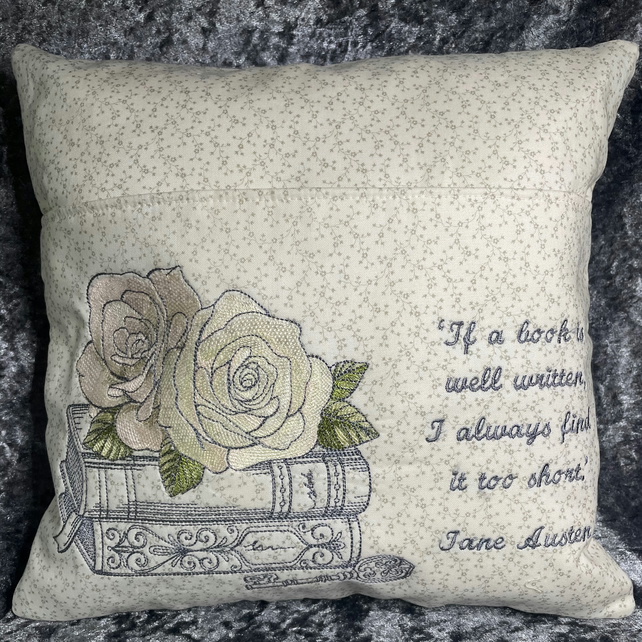 Jane Austen Quote Reading Pillow