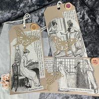 Pride & Prejudice by Jane Austen Gift Tags set of 3 (Set 3)