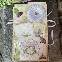Lilac Stationery Folder and Tags