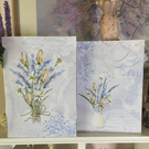 Lavender Print Card Set
