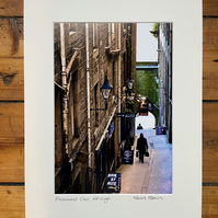 'Fleshmarket Close' Edinburgh  Signed Mounted Print 30 x 40cm FREE DELIVERY