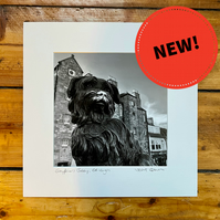 'Greyfriars Bobby' Edinburgh signed square mounted print 30 x 30cm FREE DELIVERY