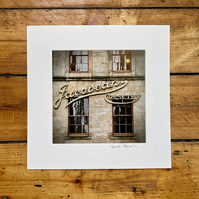 'Jacobean Corsetry' signed square mounted print 30 x 30cm FREE DELIVERY