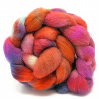 Dorset Horn Hand Dyed Combed Wool Top British Breed 100g DH9