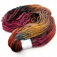 Cheviot Roving Wool Hand Dyed Pencil Roving Giant Yarn Knitting 200g PR25
