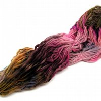 Hand Dyed Pencil Roving Cheviot Wool Giant Yarn Knitting 200g PR23