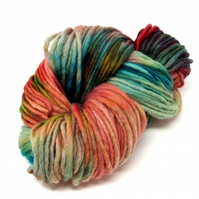 Hand Dyed Pencil Roving Cheviot Wool Giant Yarn Knitting 200g PR18