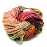 Hand Dyed Pencil Roving Cheviot Wool Giant Yarn Knitting 200g PR16