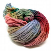 Hand Dyed Pencil Roving Cheviot Wool Giant Yarn Knitting 200g PR14
