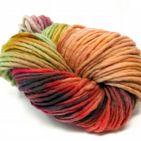 Hand Dyed Pencil Roving Cheviot Wool Giant Yarn Knitting 200g PR13