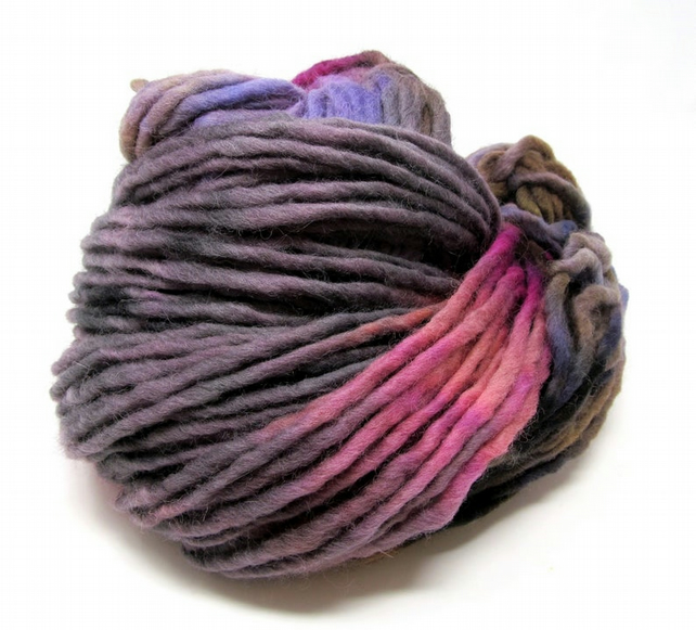 Hand Dyed Pencil Roving Cheviot Wool Giant Yarn Knitting 200g PR12