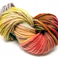 Hand Dyed Pencil Roving Cheviot Wool Giant Yarn Knitting 200g PR11