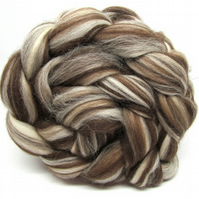 Corriedale Humbug Combed Wool Top 100g Spinning Felting Fibre