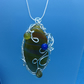 Wonderful Wire Wrapped Banded Agate Pendant and Free Earrings