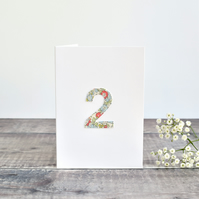 2nd Birthday card, age 2 card, card for 2 year old, 2nd Anniversary card