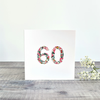 60th Birthday card, age 60 card, card for 60 year old, 60th Anniversary card