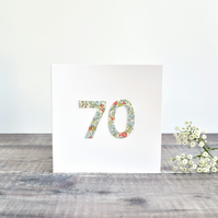 70th Birthday card, age 70 card, card for 70 year old, seventy card