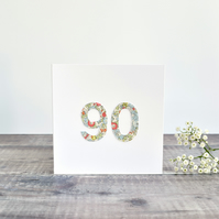 90th Birthday card, age 90 card, card for 90 year old, ninety card