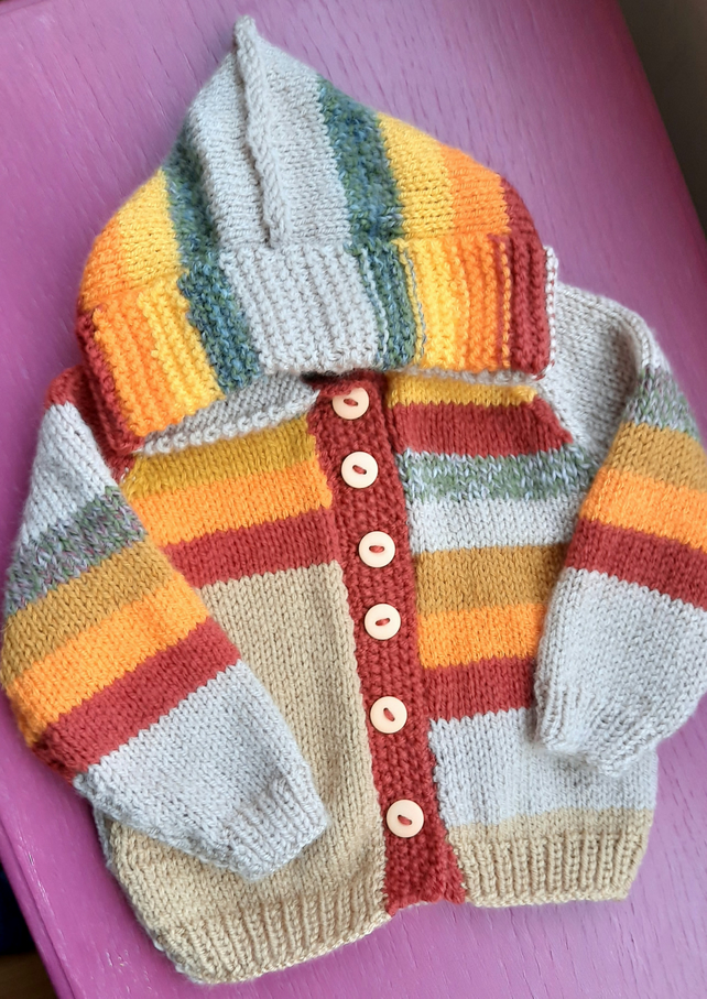 Striped Autumn Shades Baby Hoody
