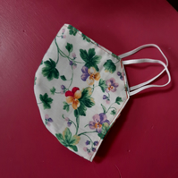 Pretty Viola Floral Facemask