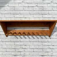 3 Pair Welly Rack For Boots Or Tools - Wall Mounted - Solid Wood