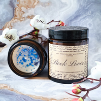 BOOK LOVER soy wax scented book candle, librarian gift, bookworm, reading, books