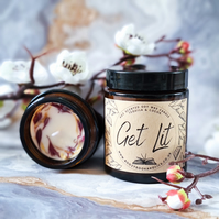 GET LIT soy wax scented book candle, librarian gift, bookworm, reading booklover