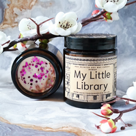 MY LITTLE LIBRARY soy wax scented candle, librarian gift, bookworm, booklover