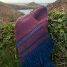 Porthledden Scarf - Herringbone Twill - Aran - Donegal Tweed - Handwoven Wool