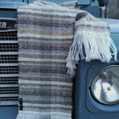 The Rambling Scarf - Herringbone Diamond - Handwoven of British Wool Rare Breeds