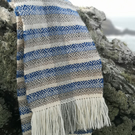 Sea Horses Scarf - Herringbone Diamond - Handwoven of British Rare Breed Wool