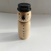 Beech Wood and Ebony Snowman 1067