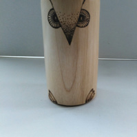 Sycamore Wood Owl Paperweight 1072