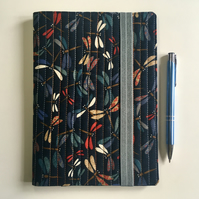 A5 quilted notebook cover including notebook