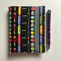 A6 quilted notebook cover, includes notebook