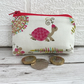 Small purse, coin purse with pink tortoise