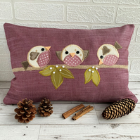 Winter Robins Cushion