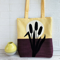 Bulrushes and Sunset Tote Bag