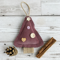 Purple Mini Christmas Tree Hanging Christmas Decoration