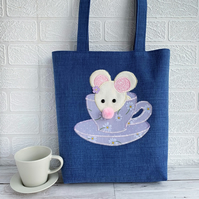 Mouse in a Teacup Tote Bag
