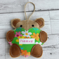 Personalised Bear Hug Hanging Decoration - Made to Order