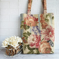 Cottage Garden Floral Tote Bag