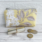 Large Purse, Coin Purse with Yellow and White Floral Pattern