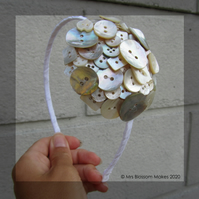 Mini Mother of Pearl Button Fascinator