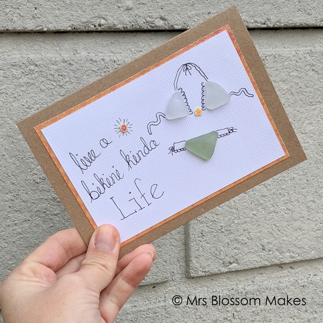 Sea Glass Card - Bikini Life